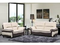 Brand New Grey/Beige Or Beige/Grey 3+2 Sofa. Can Deliver. 2 Seater is 160cm and 3 Seater is 209cm.