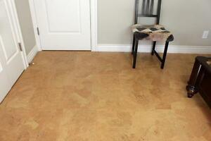 We Offer Cork Floors for Less$4.29 a sq/ft. For More warmth,  More comfortable,  More silence,  More walking comfort..