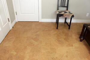We Offer Cork Floors for Less $4.29 a sq/ft. For More warmth,  More comfortable,  More silence,  More walking comfort..
