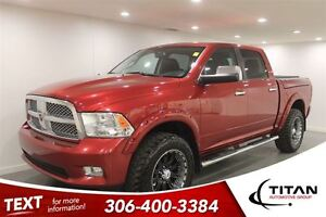 2012 Ram 1500 Longhorn Limited|35 tires|Lift/Leveling Kit|Leath