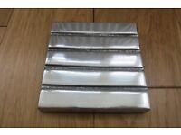 Denby aluminium coasters, boxed set of four