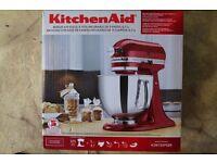 KITCHENAID STAND MIXER - KSM150PSER-5QT-RED STAINLESS STEEL - TILT HEAD