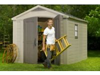 KETER Factor 8ft 5 x 11ft(2.56m x 3.31m x 2.43m) SHED, CHEAPEST in UK ! Limited STOCK ! NEW SEAL !!