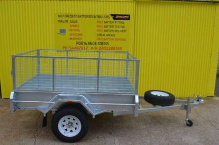 Box Tailer Galvanized 7x5 Tipper including cage and Spare