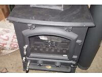 New Wood coal burning cast iron stove Clarke Regal 2 complete with all fittings