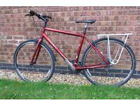 TREK 7.1 Cycle with Lightweight Aluminium Frame Metallic red.