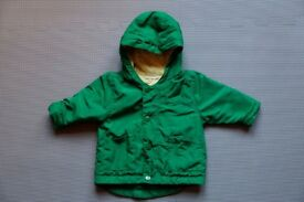 baby green jacket, up to 3 months