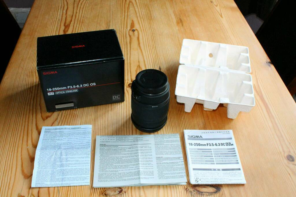 Sigma Zoom 18 - 250 mm 1:3.5 - 6.3 DC OS HSM for Canon