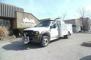 2006 Ford F-450 Only 119000 kms,Aluminum service body,Hiab Crane