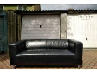 Faux leather IKEA Klippan sofa