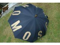 GENUINE MOSCHINO TALL UMBRELLA - **collection only nr Cromer