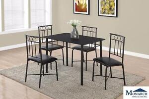 Brand NEW Black Metal Table & 4 Chairs! Call 709-489-1001!