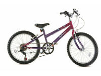 """20"""" girls cycle 6 shimano gears stand and bell, quality cycle brand new in box,cost £129."""