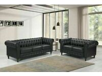 🔵💖🔴MANY ATTRACTIVE DESIGN🔵💖🔴NEWLY ARRIVAL COMFORTABLE FEEL CHESTERFIELD LEATHER 3+2 & SOFA
