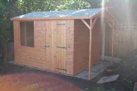 Apex Roof sheds and Log Storage