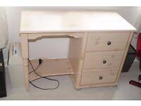 Bedroom Pedestal Dressing Table/Desk With Bedside Table/Cabinet