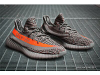 BRAND NEW BOXED – MENS YEEZY SUPLY 350 BOOST BELUGA SOLAR RED RUNNING TRAINERS – UK SIZE 9.5 EURO 44