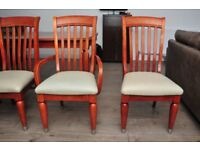 Extendable table and six chairs