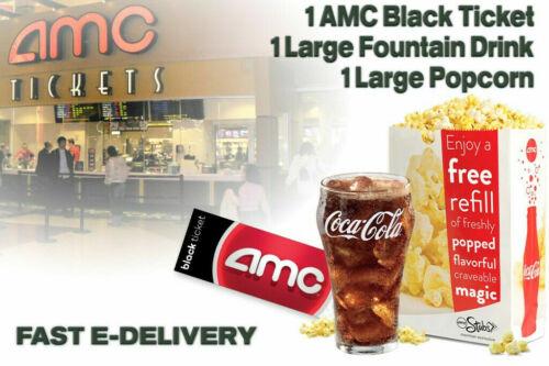 1 AMC Black Ticket, 1 Large Drink, and 1 Large Popcorn