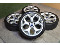 "Genuine FORD Focus ST 18"" Alloy Wheels & Tyres Facelift 08-11 Mk2 Mondeo Transit Connect"