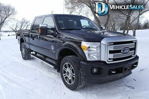 2015 Ford F-350 PLATINUM, DIESEL, NAVIGATION, COOLED AND HEATED