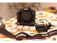 Canon 600D, battery grip, 7 batteries, charger and strap