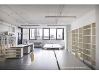 Bright 680 Sq Ft warehouse style office/studio to let near Broadway Market