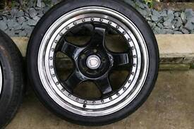 4x calibre wheels 5x100 with tyres