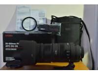 SIGMA 50-500mm F4.5-6.3 APO,DG,OPTICAL STABILIZER,HSM-FITS NIKON AF-D, BOXED