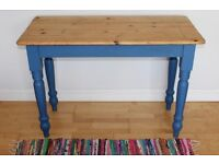 Blue Chalk Paint Pine Table/Desk