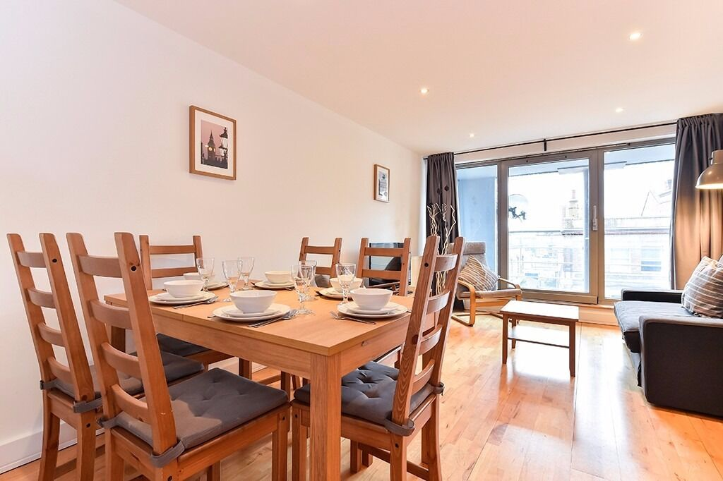 2 bed/1bath apartment*London Bridge area*3 months minimum*Fully furnished*WiFi included