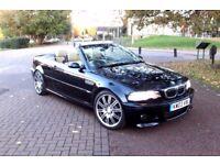 2003 BMW E46 M3 CARBON BLACK FACELIFT CONVERTIBLE 6 SPEED MANUAL HEATED SATNAV