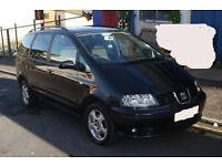 2005 Seat Alhambra 1.9l Tdi Diesel 130 bhp** 7 Seater** 6 Speed* Cruise Control* Hi Spec*