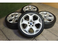 "Genuine FORD 18"" Alloy wheels & Tyres 5x108 Focus MK2 Transit Connect Mondeo Titanium X"