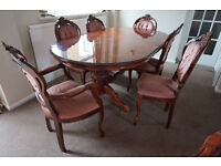 Dining table & 6 chairs Italian style for sale for £250, Rusheymead, Leicester