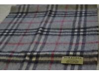 100% Authentic Cashmere Burberry Scarf