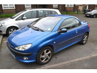 2002 PEUGEOT 206 CC BLUE Some issues