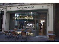 Barista Vacancies in Italian Caffe, Bloomsbury
