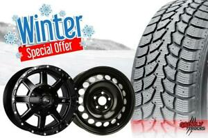 WINTER TIRE + RIM PACKAGE DEALS !!! FACTORY DIRECT SALE !!! INSTALL AND SHIPPING !!!