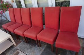 X6 ROOM LOW CHAIRS KITCHEN LOUNGE DINING INDOOR £40 EACH OR SET OF 6 £200