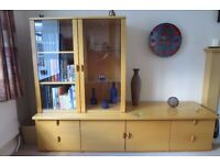 Beech effect display/storage units. Excellent condition.