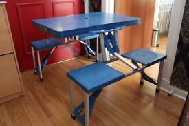 Portable Folding Outdoor Picnic Table and Bench Set for 4 seats *MUST SEE*