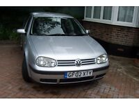 A clean 2002 VW Golf or sale
