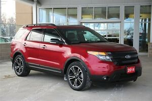 2014 Ford Explorer Sport 4WD Powerful 3.5 Ecoboost Dual Captains