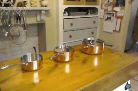Copper sausepans