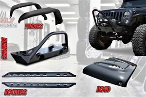 JEEP WRANGLER ACCESSORIES!! BUMPER, HOOD, FENDERS, ROCKER GUARDS !!!