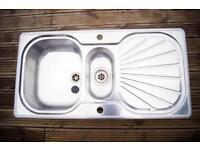 Franke Silk Steel Sink/Drainer Unit