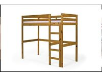 Solid pine high sleeper double bed frame
