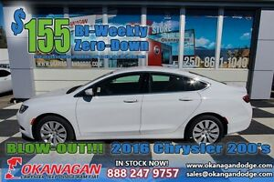 2016 Chrysler 200 LX, ONLY 50kms, LIKE NEW!!!