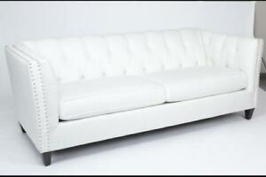 Tufted Back Fabric Sofa (AC01)